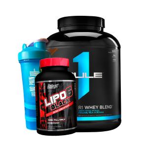 R1 Protein 5L + Shaker 3 en 1 + Lipo 6