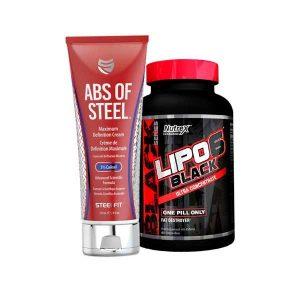 PACK lipo 6 black    + abs steel fit